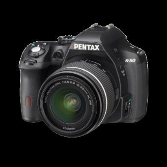 Pentax K-50 DSLR Camera (Black) with 18-55 WR Lens**