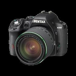 Pentax K-50 DSLR (Black) + 18-135 WR Lens**