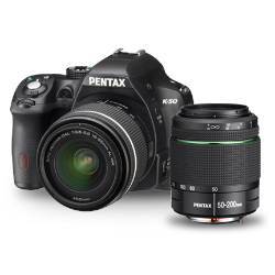 Pentax K-50 DSLR (Black)** Twin WR Lens Kit