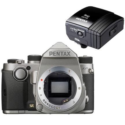 Pentax KP DSLR (Silver) with Bonus O-GPS1