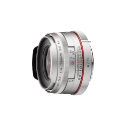 Pentax DA 15mm f/4 Limited ED AL HD Lens (Silver)