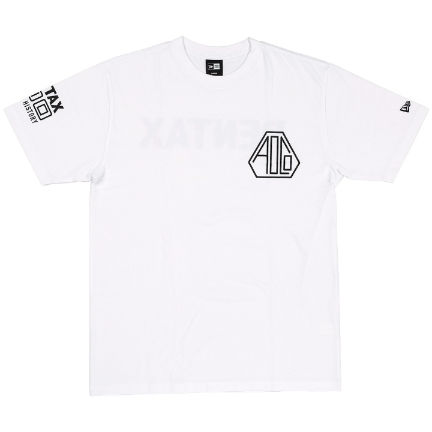 Pentax New Era AOCO 100 Tshirt WT/BK Medium