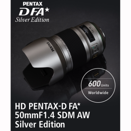 Pentax-D FA* 50mm f/1.4 SDM HD AW Lens Silver