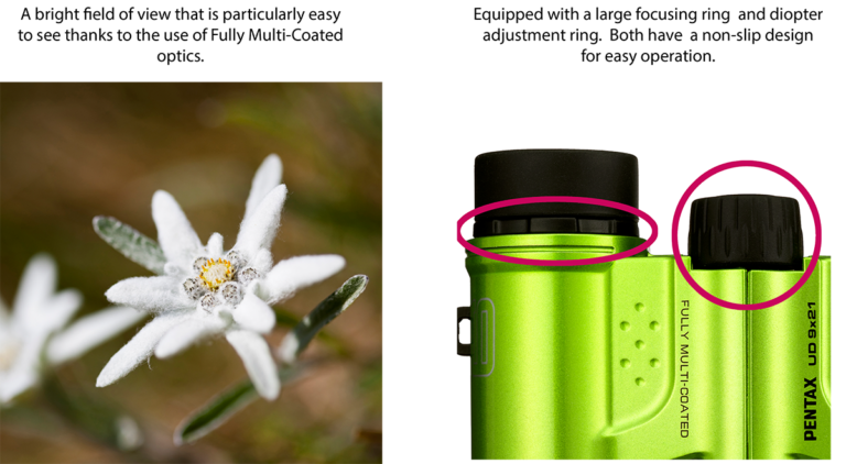 Pentax 9x21 UD Binocular (Black)_features_1